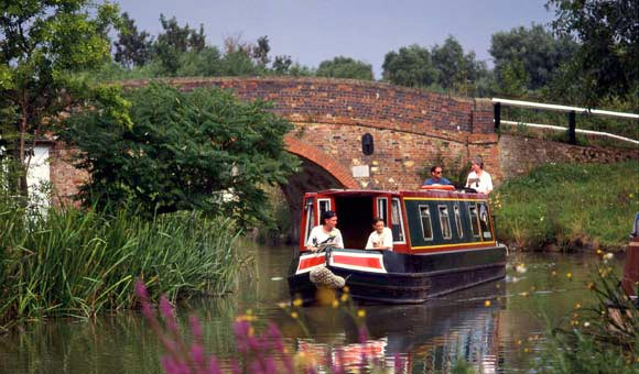 Canal cruise through scenic countryside